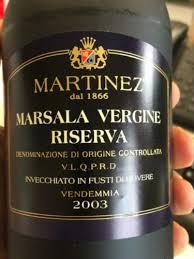 Martinez Marsala riserva 2003