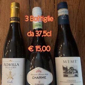 Charme Bianco + Grillo + Chianti € 15,00