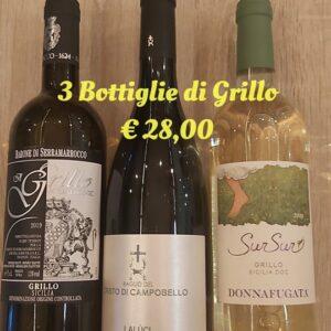 3 Bottiglie Grillo € 28,00