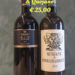 Kaid Syrah & Quojane Zibibbo € 25,00