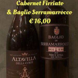 Nero d'Avola e Cabernet € 16,00