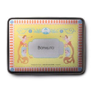 """Degustazione 6 tavolette in scatola di latta Confezione Regalo """"Bianco Box"""" Bonajuto"""
