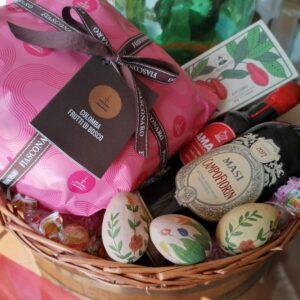 Confezione regalo Pasqua 2021 Cesto in rattan Campofiorin Masi