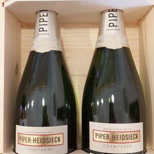 """Champagne """"Essentiel"""" Blanc de Blancs Extra brut Piper Heidsieck Cassetta 2 bottiglie"""