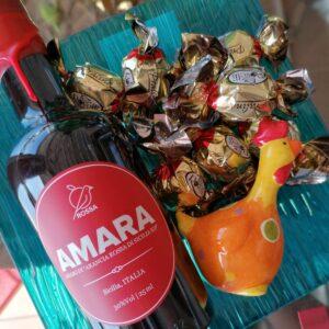 Confezione regalo Pasqua 2021 Piattino di vetro con Amara
