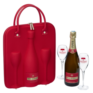 Champagne Cuvée Brut Piper Hiedsieck – Travel Set con 2 flutes