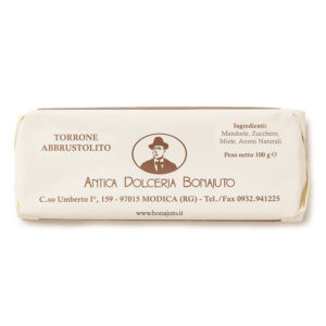 Torrone abbrustolito croccante Bonajuto 100 gr