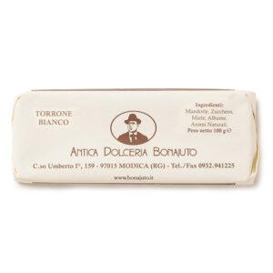 Torrone bianco morbido Bonajuto 100 gr