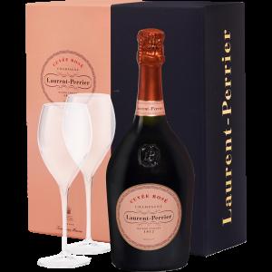 Laurent Perrier Champagne Rosè Brut Confezione Regalo con 2 calici